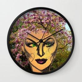 Spring Fairy Wall Clock