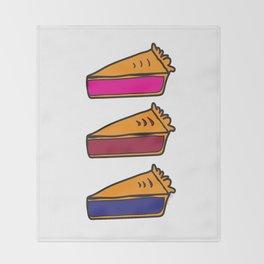 3 Pies - Original/White Throw Blanket