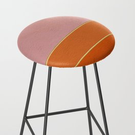Orange, Pink And Gold Abstract Painting Bar Stool