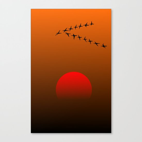 Migratory birds Canvas Print