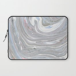 Abstract pink blue gray watercolor marble pattern Laptop Sleeve