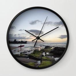 North Shore Sunset Wall Clock
