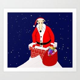 Christmas Whippet Art Print