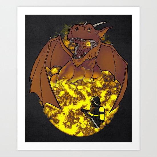 The Fire. Art Print