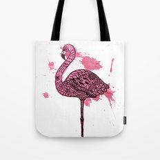 Flamingo Watercolor Print Tote Bag