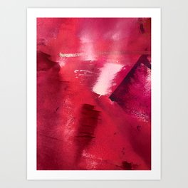 Between Heartbeats [3]: a vibrant abstract piece in a variety of reds by Alyssa Hamilton Art Art Print