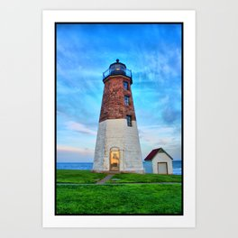 Point Judith Lighthouse HDR Art Print