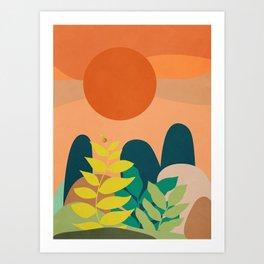 A tropical landscape 2 Art Print