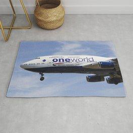 British Airways One world Boeing 747 Rug