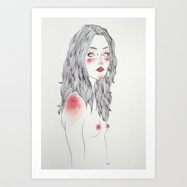 Keep Breathing Art Print