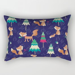 Woodland Foxes Rectangular Pillow