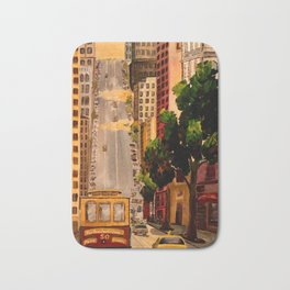 San Francisco Van Ness Cable Car Bath Mat