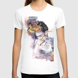 Frida Kahlo watercolor portrait T-shirt