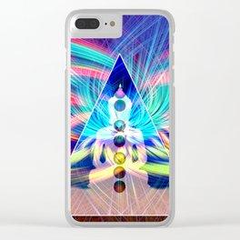 Rainbow Rays 7 Chakra Healing Meditation Clear iPhone Case