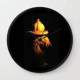 Fire Hydrant Orange and Black Art - Hot - Sharon Cummings Wall Clock