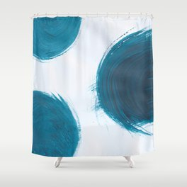 Fire ball, Abstract, Blue Duck Shower Curtain