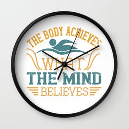 Swimming - The body achieves Wall Clock