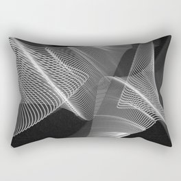 Echoes VIII - Black and White Rectangular Pillow