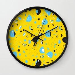 Hannukats Yellow Wall Clock