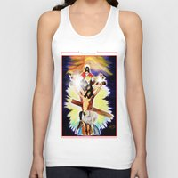 christ Tank Tops featuring THE CHRIST by KEVIN CURTIS BARR'S ART OF FAMOUS FACES