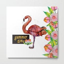 my flamingo Metal Print