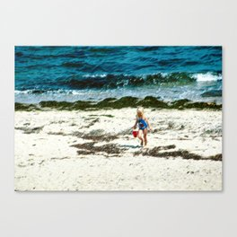 Street Scenes - Kids Ocean Walk Canvas Print
