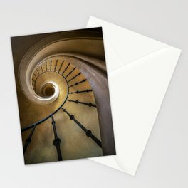 Golden spiral staircase Stationery Cards