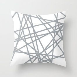 To The Edge Grey Throw Pillow