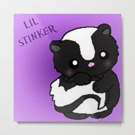 Lil Stinker Skunk Metal Print