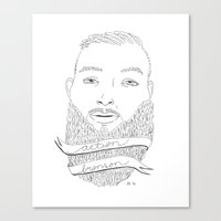 action bronson Canvas Prints featuring Action by alexdavey