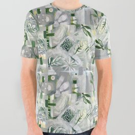 green_pattern All Over Graphic Tee