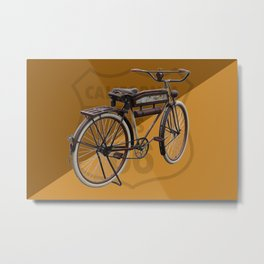 Antique Bike on Route 66 Metal Print