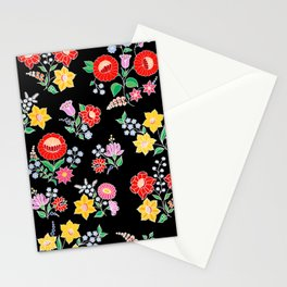 Hungarian repeat - black Stationery Cards