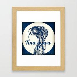 time is now Framed Art Print