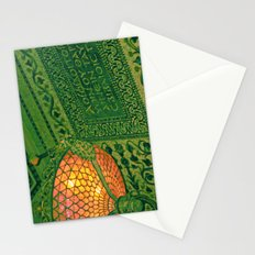 Chicago Cultural Center ~ architecture tiffany lamp detail Stationery Cards
