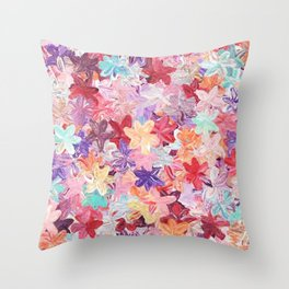 Pastel Flower Throw Pillow