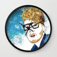 gorillaz Wall Clocks featuring Daley by ComfortComfort