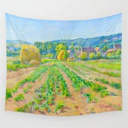 Václav Radimský (1867-1946) Cabbage Fields near Vernon Modern Impressionist Oil Painting Colorful Wall Tapestry