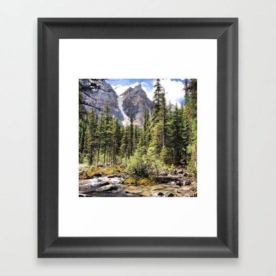 Mountain Ravine Framed Art Print