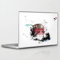 volkswagen Laptop & iPad Skins featuring volkswagen van by Adriana Bermúdez