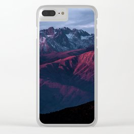Red mountain 4 Clear iPhone Case