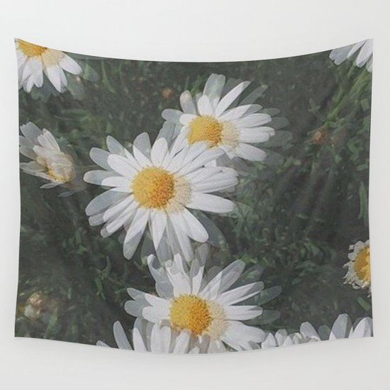 Trippy Daisies Wall Tapestry