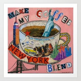 New York City Coffee Blend Collage Art Print