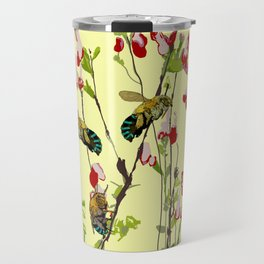 The Blue Banded Bee (Amegilla cingulata) Travel Mug