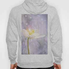 White Flower In The Forest Enchantments - Bokeh Background #decor #buyart #society6 Hoody