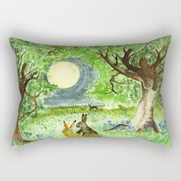 Hare Moon Rectangular Pillow