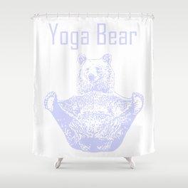 Yoga Bear Collection Shower Curtain