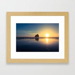Oregon Sunset Framed Art Print