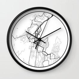 Minimal Maps - Wellington Wall Clock