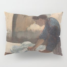 Woman Ironing Pillow Sham